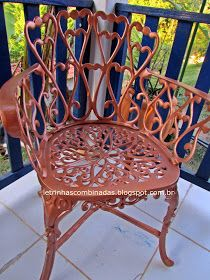 cadeiras pintadas com tinta spray