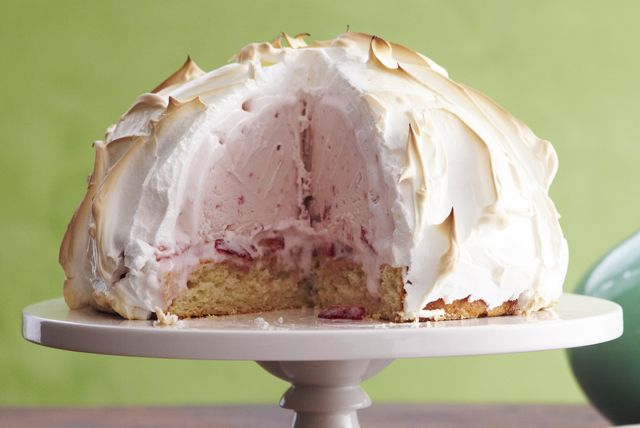 Gorgeous meringue covering strawberry ice cream, fresh berries and tasty shortcake is a showstopper dessert, for sure—and one you absolutely can make at home.