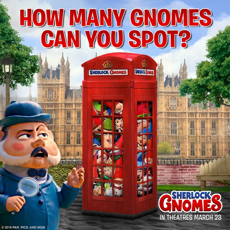 Break out your magnifying glass and see if you can count the gnomes! #SherlockGnomes