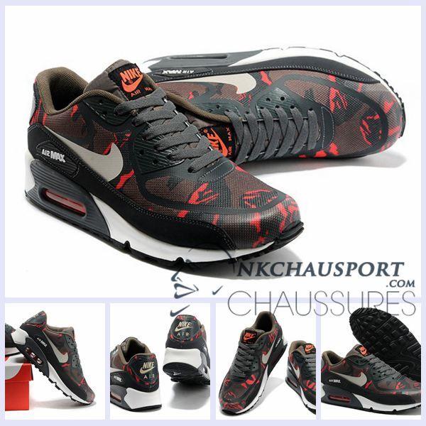 Nike Air Max 90 2016 | Meilleur Chaussures Running Homme Brun Noir
