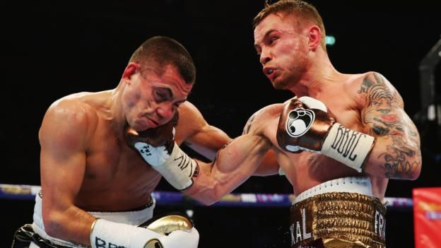Carl Frampton flattens the obsession of Scott Quigg in Manchester - BBC Sport
