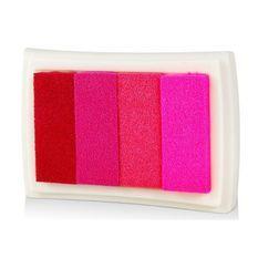 large size premium pigment diy inkpad 4 gradient colors inkpad (pink)