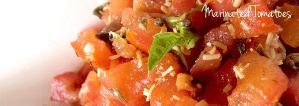 Day 1:  Recipe - Marinated Tomatoes / Tomates Marinados