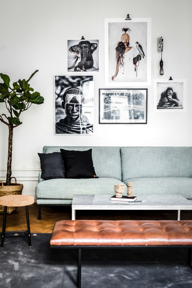 Eclectic Apartment Featuring A Diverse Color Palette And A Casual ...