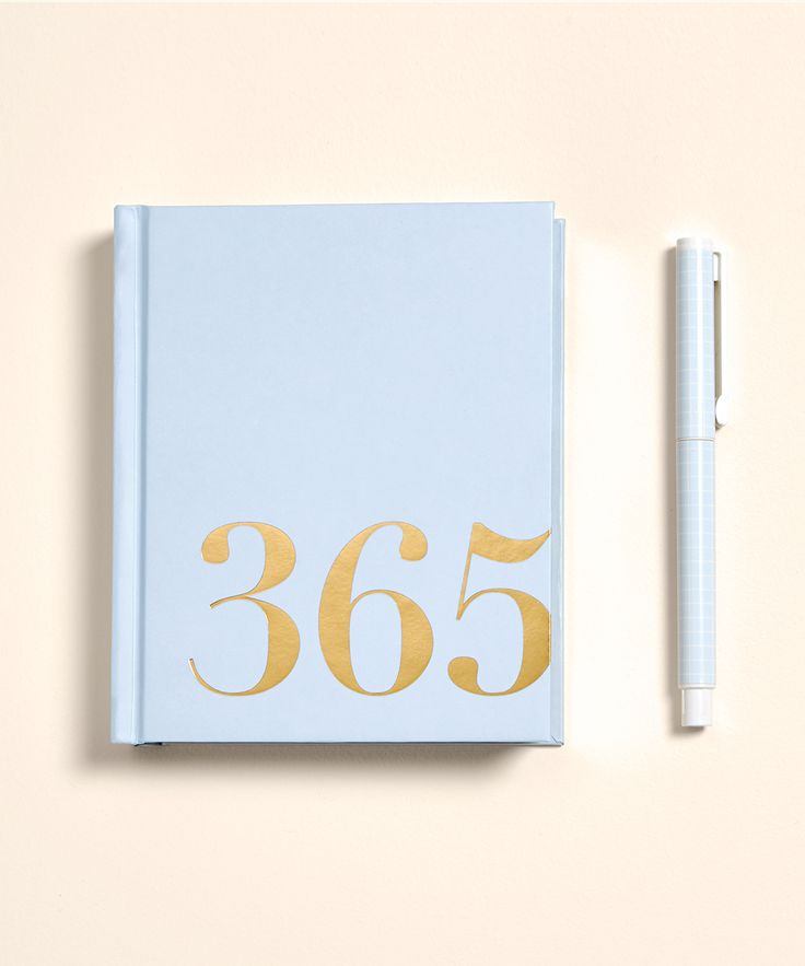 Be inspired to start a journal and write an entry each day of the year with this gorgeous. blue 365 Days Journal.
