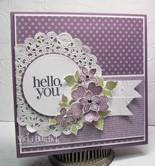 Sweet Sunday......Hello, you - Its a Stamp Thing #stampinup #petitepetals #FlowerShop