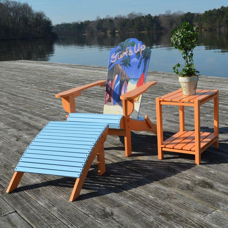 Carolina Corolla Adirondack Chair and Ottoman Set