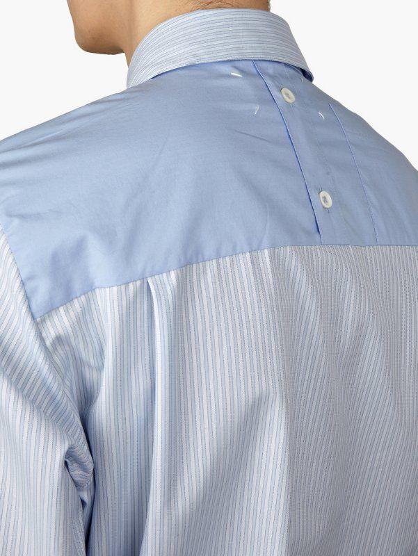 Maison Martin Margiela 10 Men 's Blue Yoke Back Shirt   oki-ni