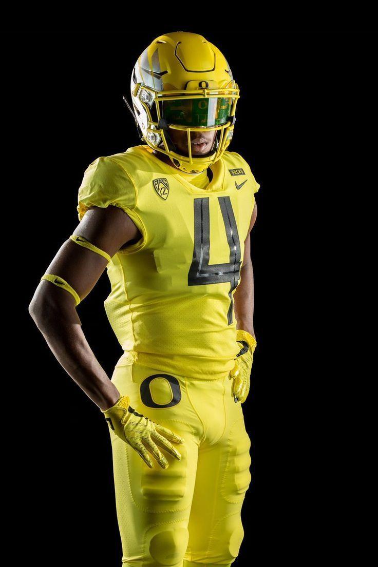 New Oregon Uniforms Uniswag University Of Oregon Ducks 2018 Football Uniforms All Yell In 2020 College Football Uniforms Football Uniforms Oregon Ducks Football