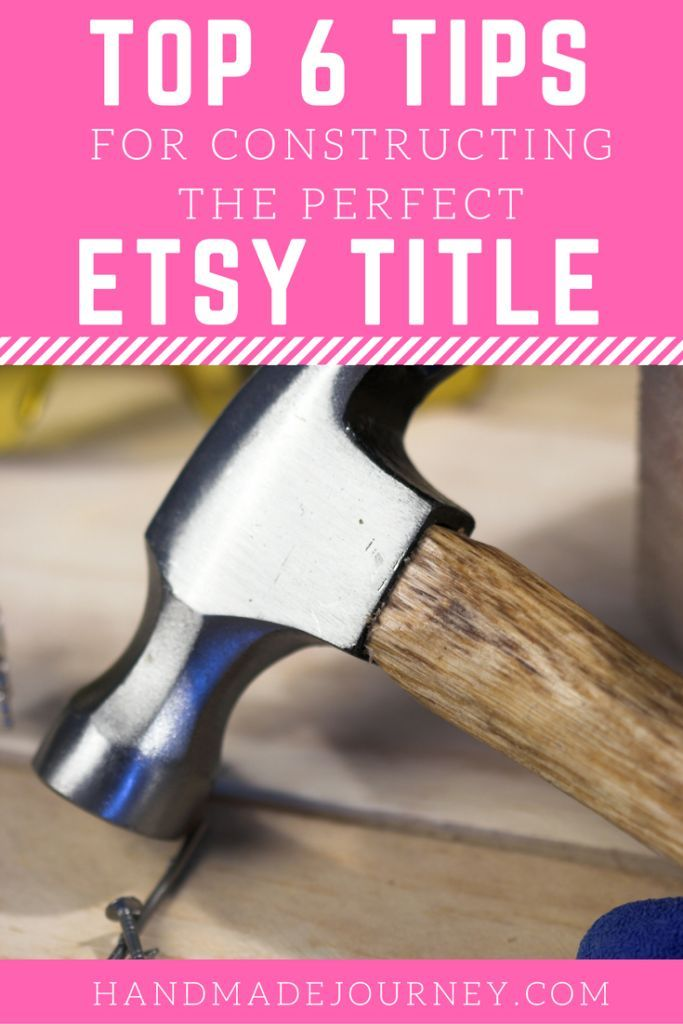 Constructing the perfect Etsy Title is key to making sure your products are found by buyers in the search results. Check out our top 6 tips!