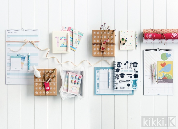 Beautiful Christmas gift packs from kikki.K    #gifts #christmas #buy #online #wrapping #ribbon #cards #paper #stationery #Swedish #design