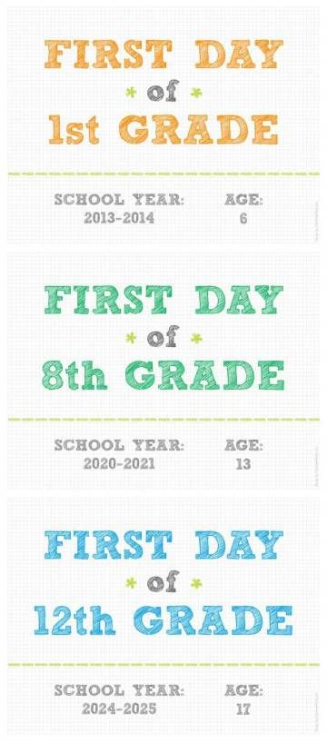 24 best homeschool planning and organization images on pinterest free day of school signsi cant even fathom weston going off to preschool fandeluxe Images