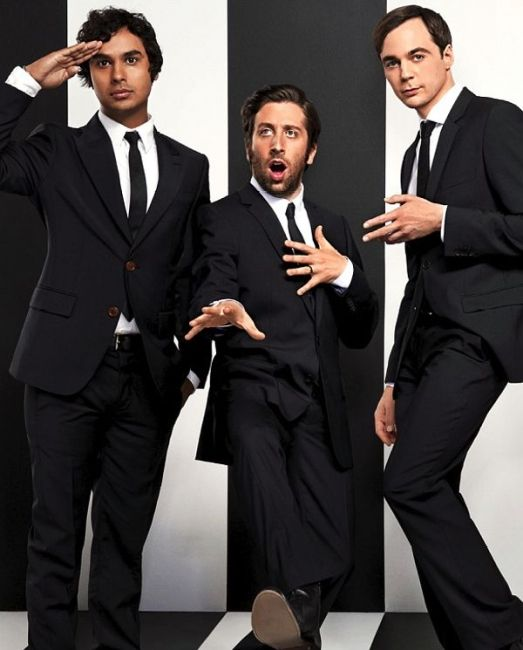 Kunal Nayyar, Simon Helberg and Jim Parsons