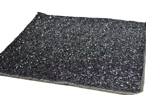 Luxury placemats in grey sequin and beads. These handmade dinner mats are intricated beaded to create a premium sophisticated look for a perfect table decor. This gray sequin handmade placemats make a