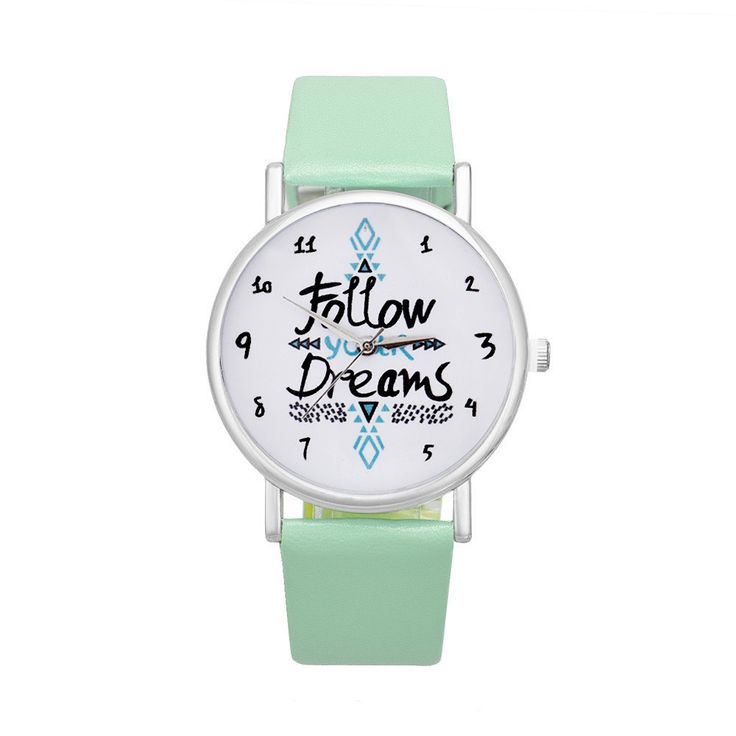Inspirational quote watch to brighten up your days! This unisex wrist watch is specially designed with alloy casing and a PU leather band. Wrist Size: Adjustable from 17 cm to 21 cm (6.69 inches to 8.