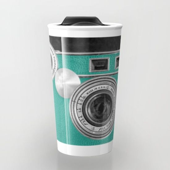 Teal+retro+vintage+phone+Travel+Mug+by+Wood-n-Images+-+$24.00: