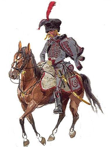 Ussaro del 3 reggimento ussari francese - Anonimo