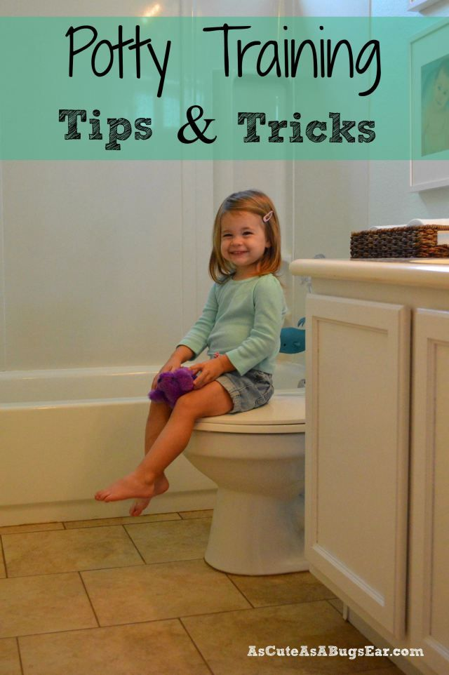 Potty Training Tips & Tricks | As Cute as a Bug's Ear|  After successfully potty training one child, and well on the way to two, I am sharing what Potty Training-Tips & Tricks worked for our family!  Our top FIVE tips are listed!