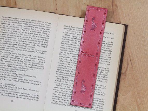 Handmade Bookmark, Leather Bookmark, Giraffe Bookmark, Dream Bookmark. Repin To Remember.