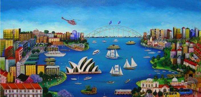 Fabulous Sydney is a gorgeous mid range piece that depicts Sydney Harbour Australia.