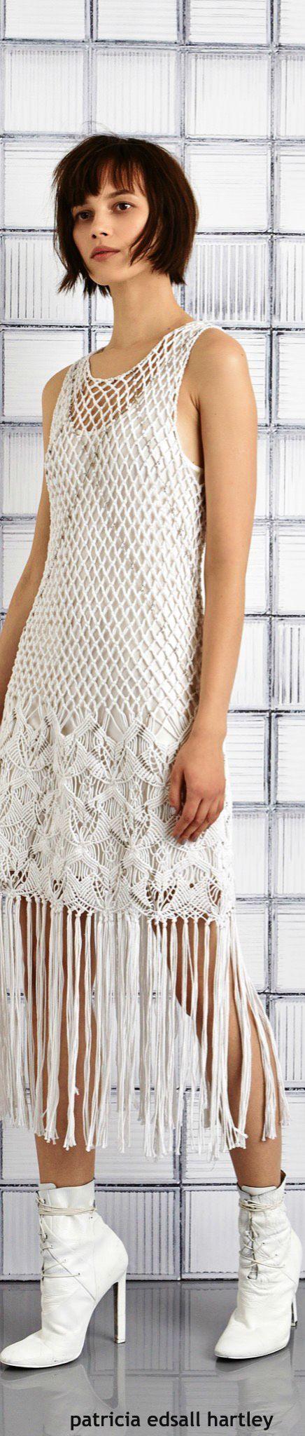 -White Crochet Dress - Tess Giberson Resort-2016.<3