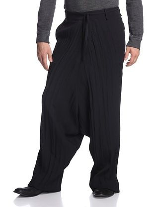 80% OFF Alexandre Plokhov Men's Long Dropped Trouser (Black)