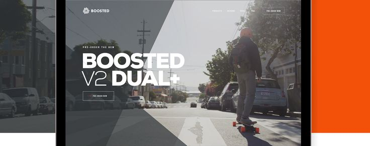 Boosted Boards Pre-order site on Behance