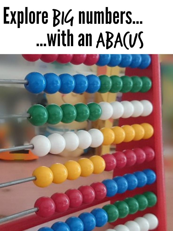 1, 2, 3, 4 … you can't help but be proud when your child first repeat the numbers 1 to 10. And once they've got... explore big numbers with an abacus