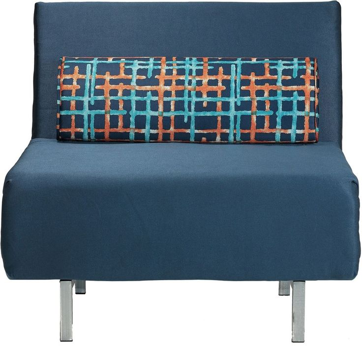 Convertible Chair Bed Accent Modern Lounges Navy Blue Low Back Seat Furniture #CortesiHome #Modern #Chair #Furniture #Seat #Home