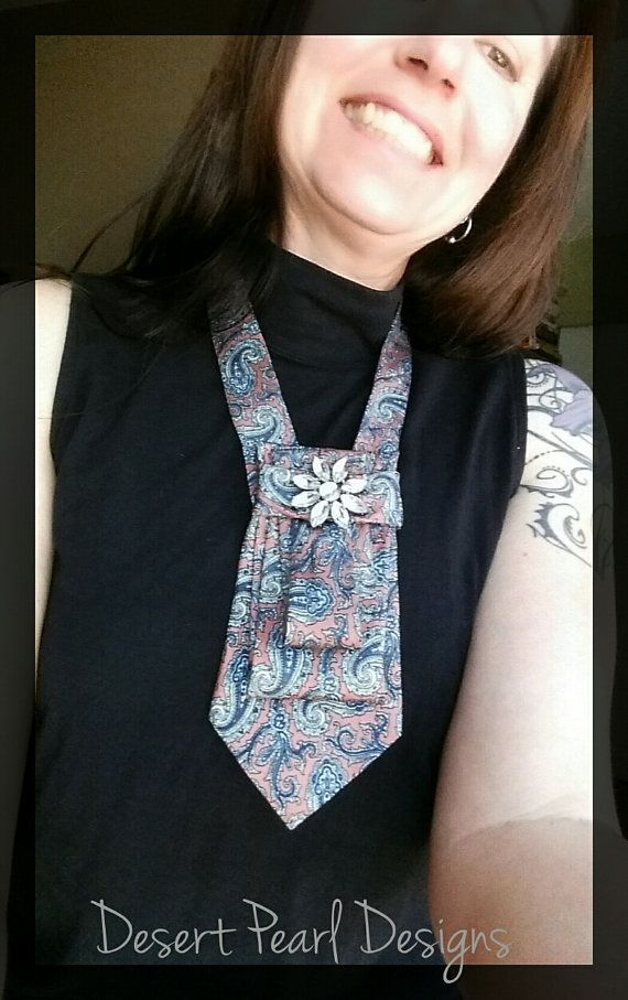 Check out this item in my Etsy shop https://www.etsy.com/listing/384478058/necktie-necklace-paisley-tie-necklace