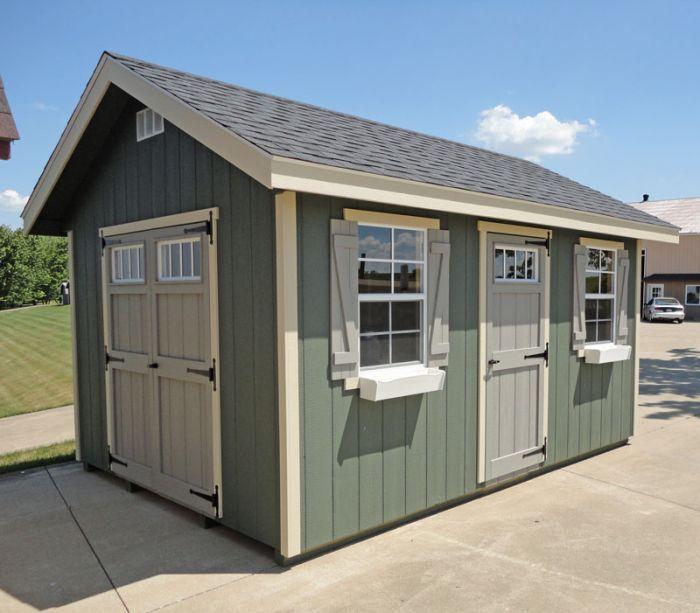 Amish Ez Fit Riverside Shed Kit Outdoorshedplans Wood Shed Plans Shed Design Shed Storage