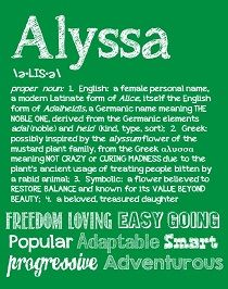 The Name Alyssa In Bubble Letters