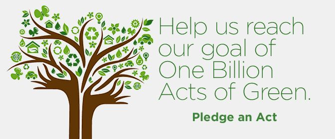 One Billion Acts of Green: Earth Day 2012 #Earth_Day