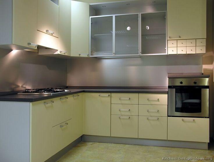 Modern Yellow Kitchen Cabinets #01 (Kitchen-Design-Ideas.org)