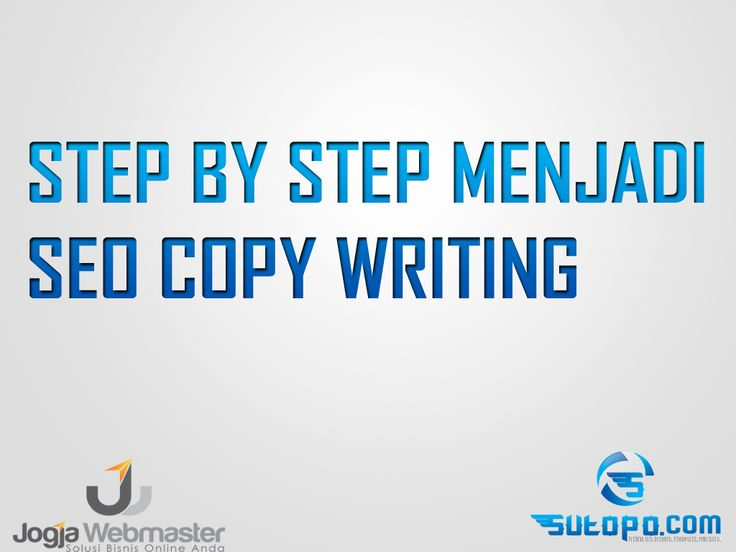 Belajar SEO - step by step menjadi penulis SEO atau SEO copywriting website wordpress blogspot