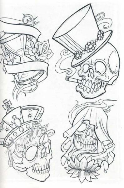 tattoo sketches | Skull tattoo flash for free, skull, tattoos, tattoo designs, tattoo ...