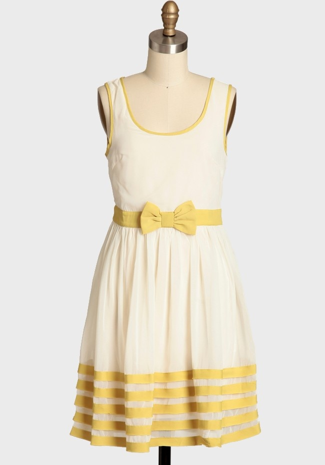 Sunny Side Bow Dress 64.99 at shopruche.com. We adore this delicate cream