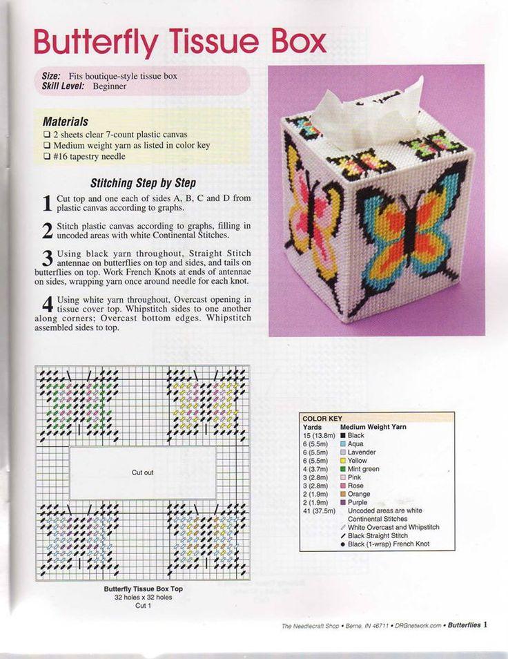 Butterfly Tissue Box Plastic Canvas Plastic Canvas Box