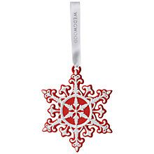 Buy Wedgwood Neoclassical Snowflake Christmas Decoration Online at johnlewis.com