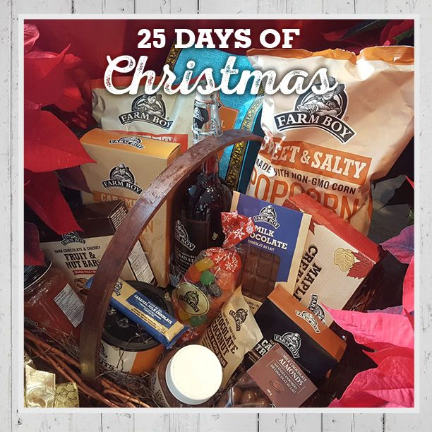You'll be a hero to the foodie on your gift-giving list when you hand them a Farm Boy Gift Basket. Filled with our favourite gourmet treats, they are also a great way to say thanks to your host or a valued client. Baskets are now available at Farm Boy stores or can be ordered in advance. #FB25daysofChristmas bit.ly/2gYxWhy
