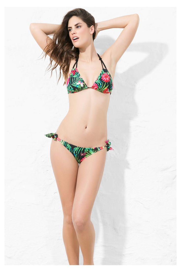 Pezzo sotto del bikini nero stampato | Desigual.com H