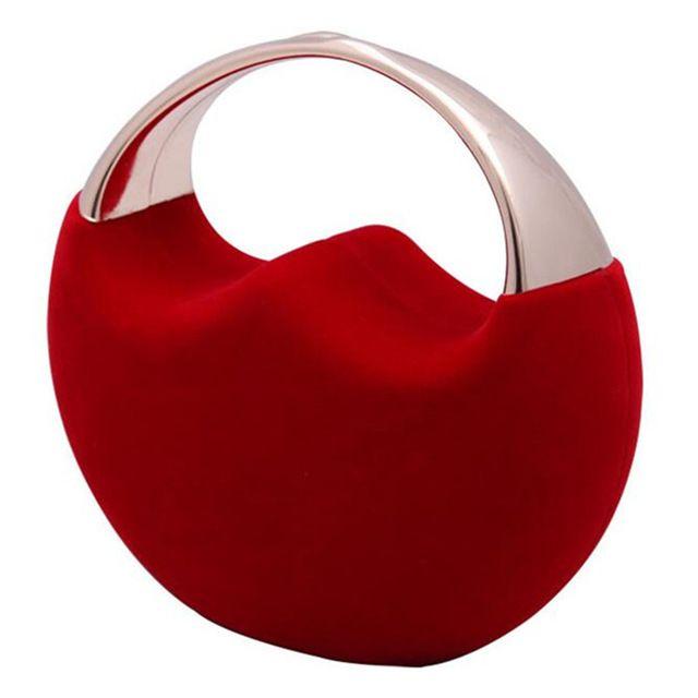 2016 Del Progettista Rosso Rotondo Sacchetto di Sera Cina Disegno Pochette Blu Cheongsam Banchetto Borsa Della Frizione di Cerimonia Nuziale ZD480
