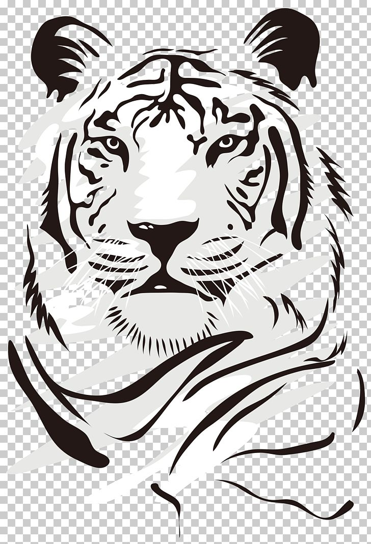 Tiger Euclidean Domineering Tiger White Tiger Illustration Png Clipart Tiger Illustration Tiger Silhouette Lion Silhouette