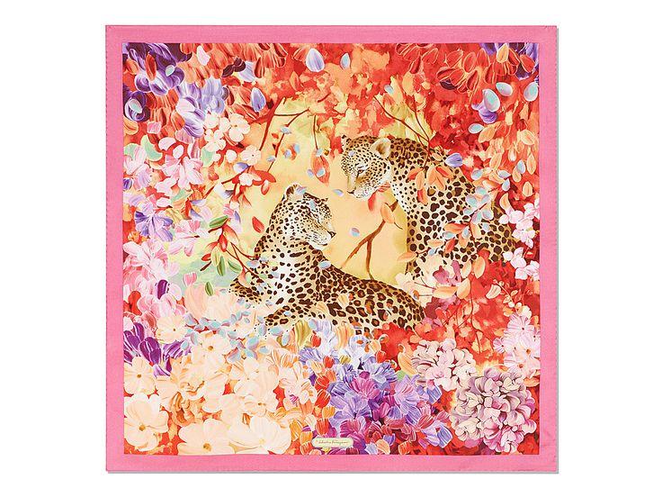 Trigers in Tropical Garden Print Scarf - SILKS & ACCESSORIES - Women - Salvatore Ferragamo