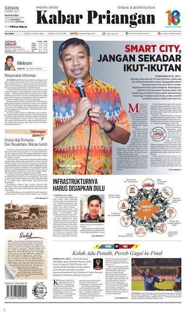 Layout Kabar Priangan Halaman Utama, Senin 6 Maret 2017 | LAYOUT KABAR PRIANGAN