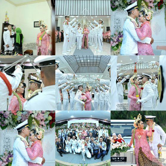 Foto Wedding Prosesi Upacara Pedang Pora Perwira Pelaut Pelayaran Ovie+Iwan di Temanggung