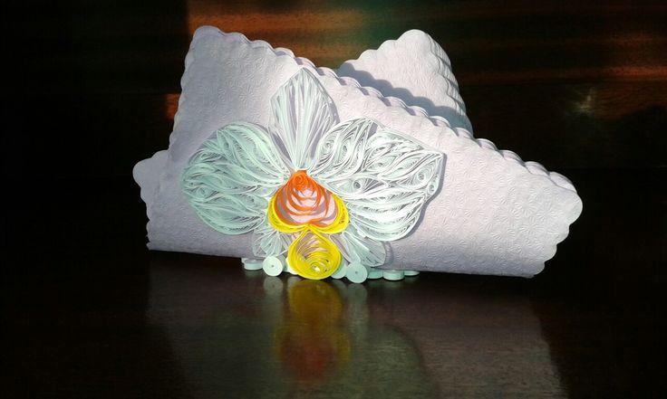 Napkin holder quilling paper