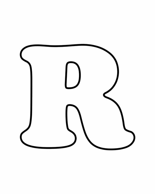 Letter R - Free Printable Coloring Pages