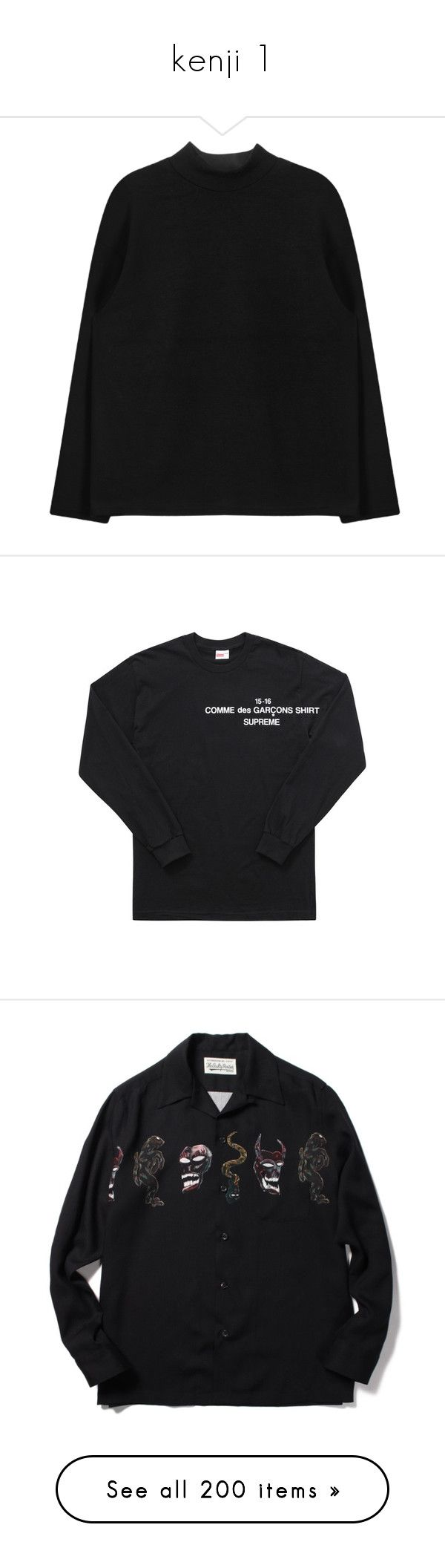 """kenji 1"" by shinxkenzo ❤ liked on Polyvore featuring tops, clothing - ls tops, sweatshirts, cut loose tops, lace up long sleeve top, loose fit tops, high neckline tops, loose tops, sweaters and shirts"