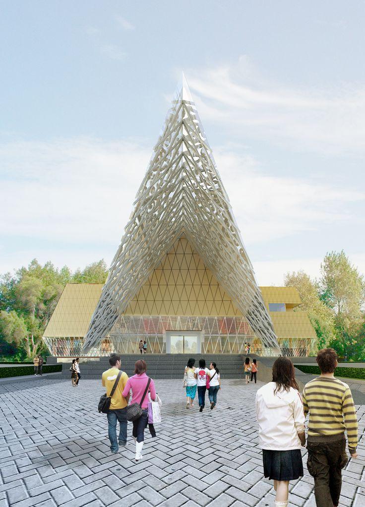 Batik Museum   Edisi bantu tugas akhir    Sketchup | Vray | Photoshop